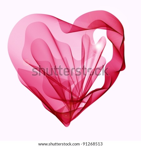 Beautiful Valentine's background with abstract pink and red heart, vector, eps10