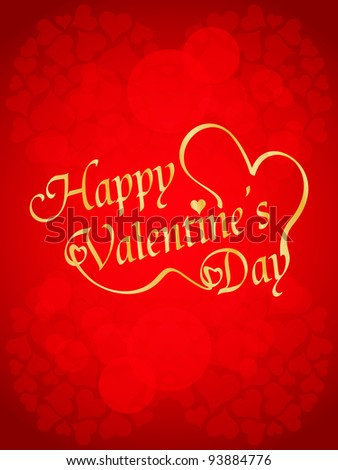 Beautiful valentine's day design on red background. Vector illustration