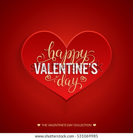 Happy Valentines Day Lettering Greeting Card Vector – Valentines Card Photos