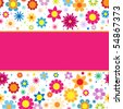 Beautiful vector background with colorful  flowers - stock vector