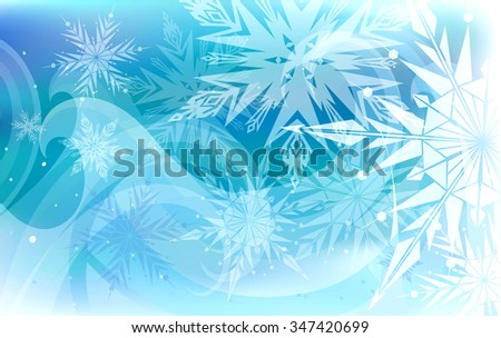 Beautiful vector background with white snowflakes, Happy New Year. - stock vector