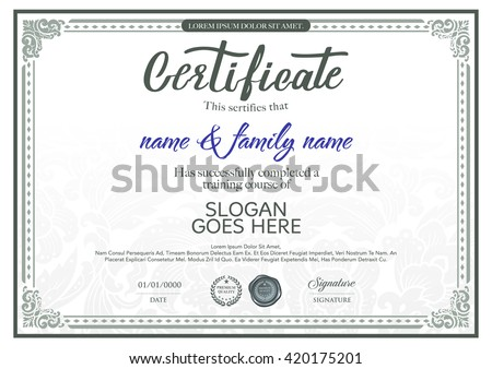Beautiful vector certificate template.