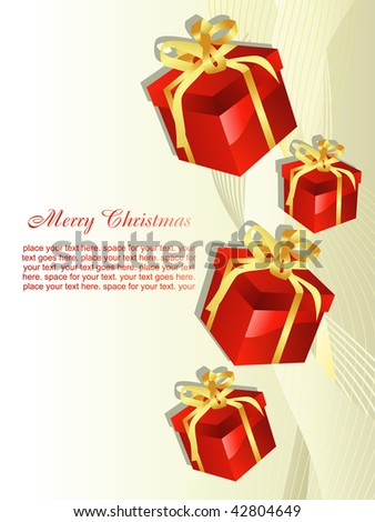 beautiful vector christmas gift artistic background