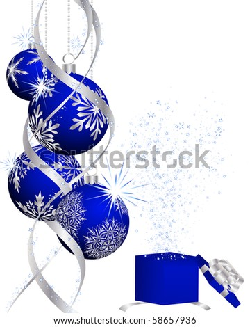 Beautiful vector Christmas (New Year) background for design use - stock vector