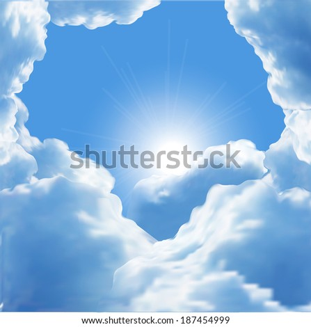 beautiful vector clouds  - stock vector