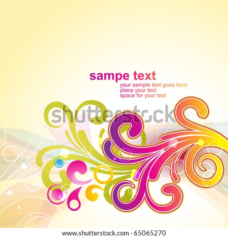 beautiful vector floral design artwork