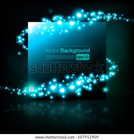 Beautiful vector frame - stock vector