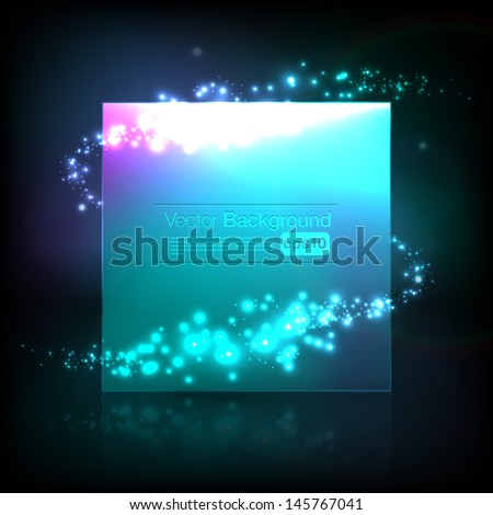 Beautiful vector frame with shimmering vortex - stock vector