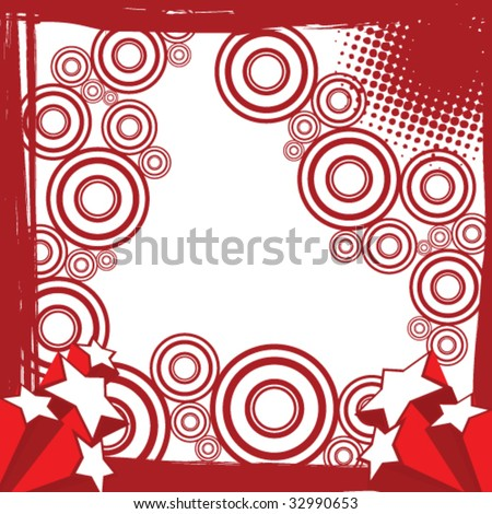 beautiful vector grunge abstract background - stock vector