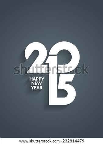 Beautiful vector happy new year 2015 text design. - stock vector