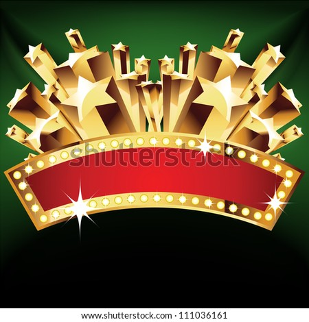 beautiful vector label sign with stars. - stock vector