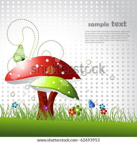 beautiful vector landscape design - stock vector