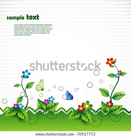 beautiful vector nature scene - stock vector