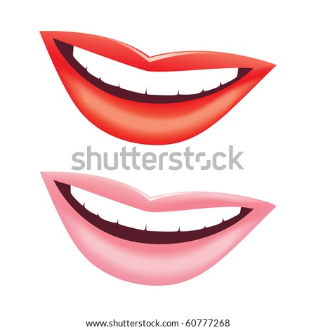 Beautiful vector smile