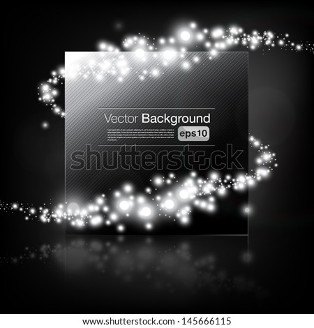 Beautiful vector steel frame with shimmering vortex - stock vector