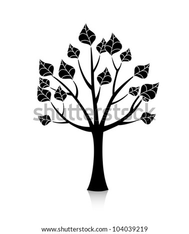 beautiful vector tree - stock vector