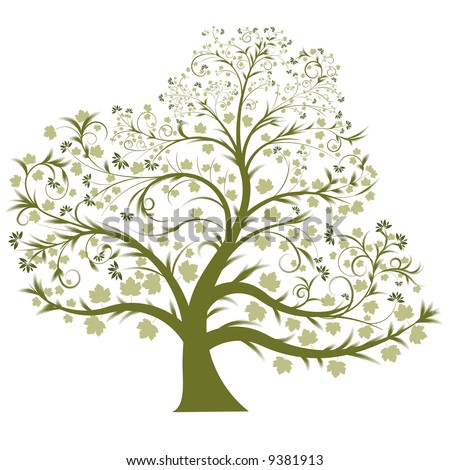 beautiful vector tree design - stock vector