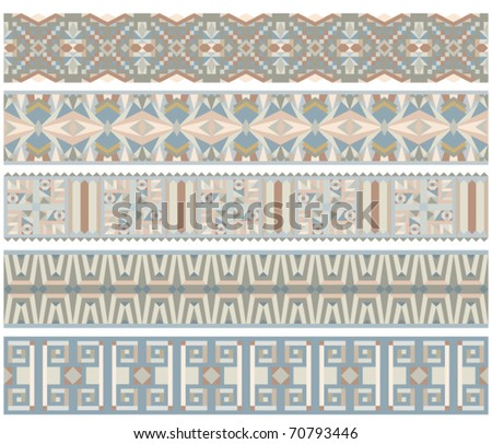 Beautiful vector trim or border collection