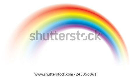 Beautiful vector vivid colorful rainbow shining blurred - stock vector