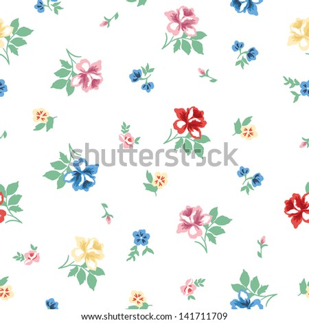 Beautiful vintage floral pattern, vector design - stock vector