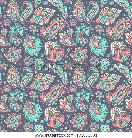 Beautiful vintage floral seamless for your business - stock vector
