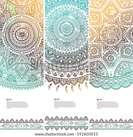 Beautiful vintage floral set of banners for your business - stock vector