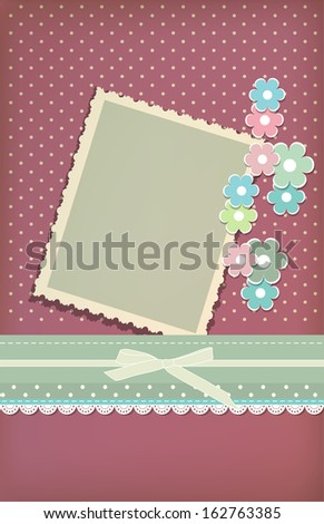 Beautiful vintage greeting card vector eps 10 - stock vector