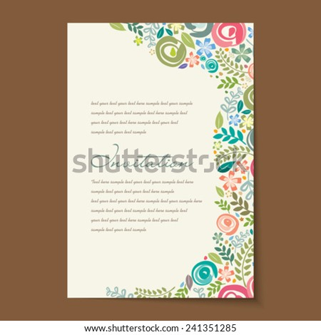 Beautiful vintage invitation cards layouts. - stock vector