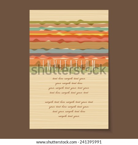 Beautiful vintage invitation cards Layouts - stock vector