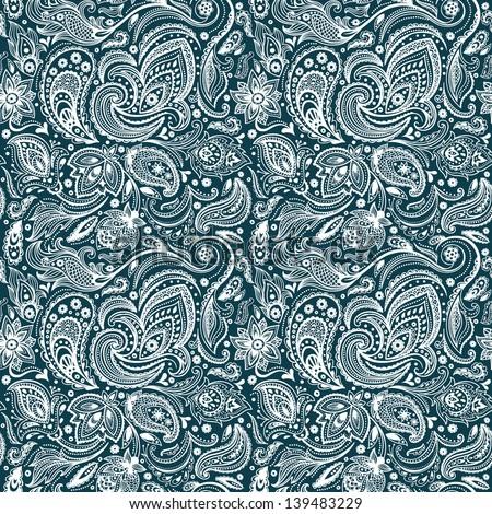 Beautiful vintage paisley seamless - stock vector