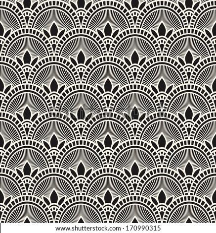 beautiful vintage seamless pattern - stock vector