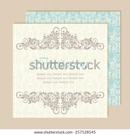 Beautiful vintage wedding invitations. Vector illustration