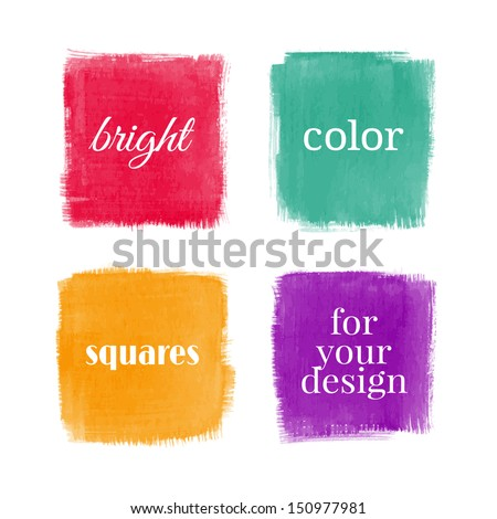 Beautiful watercolor design elements. Vector illustration - stock vector
