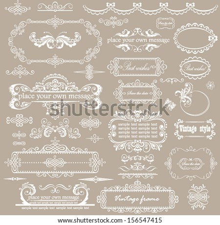 Beautiful wedding design - stock vector