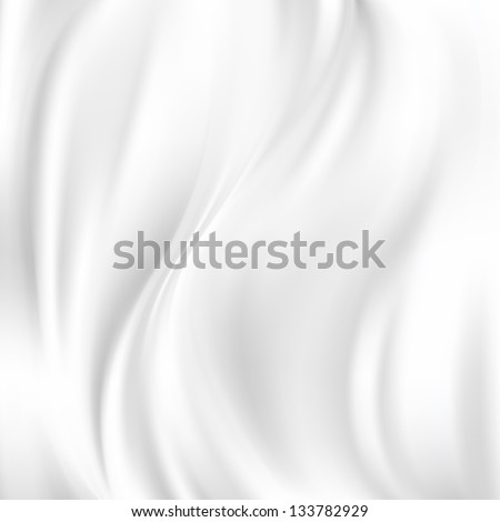 Beautiful White Silk. Drapery Textile Background, Vector Illustration - stock vector