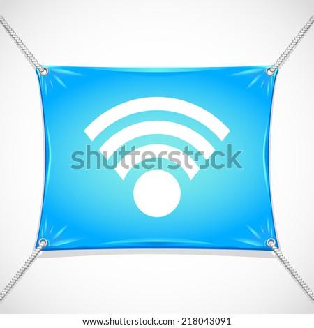 Beautiful Wireless Network web icon - stock vector