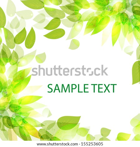 Beautiful  with leaves for use in your design. Vector eps 10 - stock vector