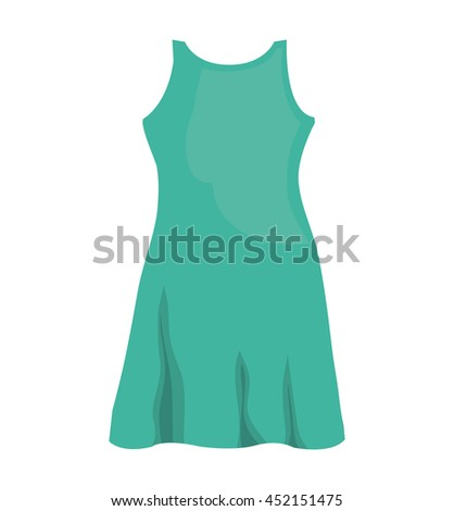 beautiful woman clothes, isolated flat icon vector illustration graphic.