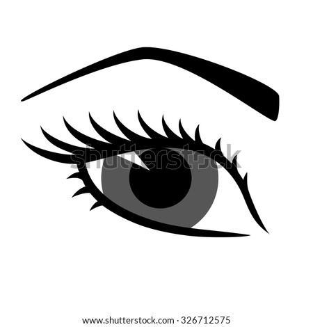 silhouette eyes eyebrow open closed blackwhite stock Large Winking Eye Clip Art Cartoon Winking Eye