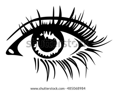 Beautiful Eye Clipart Black And White