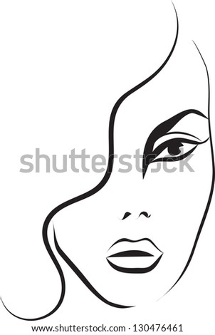 face beautiful woman drawn old comic stock illustration Cartoon Winking Eye Animated Winking Eyes Clip Art