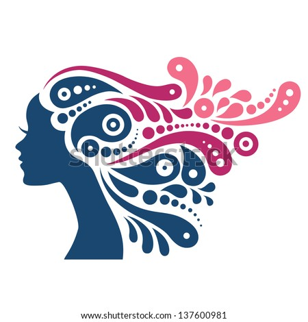 Woman profile silhouette stock images royalty free images for Female silhouette tattoo