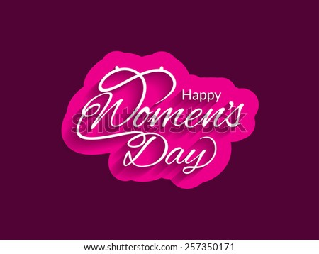Beautiful Women's day vector card design.   - stock vector