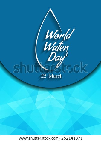 Beautiful world water day vector background design. - stock vector