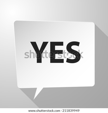 Beautiful Yes web icon - stock vector