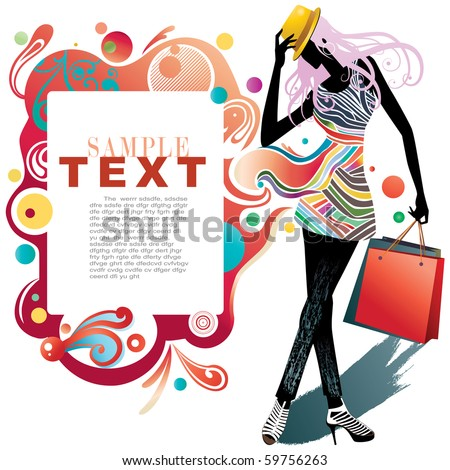Beauty and fashion - stock vector