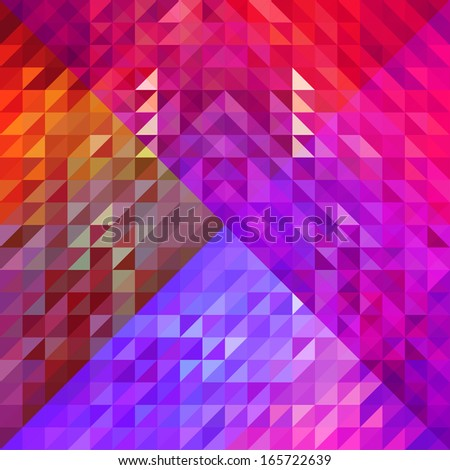 Beauty and Fashion concept abstract geometric shapes background, cover design - stock vector
