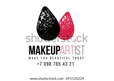 Makeup Artist Logo T Shirt Design And Business Card Concept