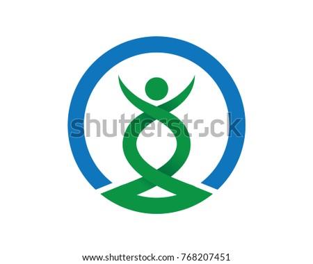 Beauty Body Health Care Yoga Sport Spirit Balance Logo