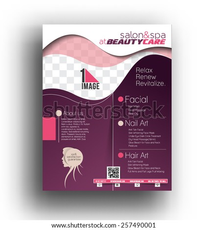 Beauty Care Salon Flyer Poster Template Stock Vector 276727229
